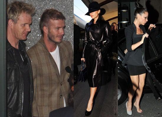 Photos of David Beckham and Gordon Ramsay at LAX Plus Victoria in Paris