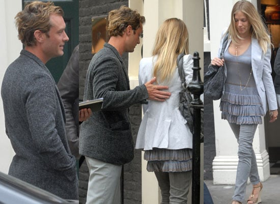 Photos of Jude Law and Sienna Miller in London
