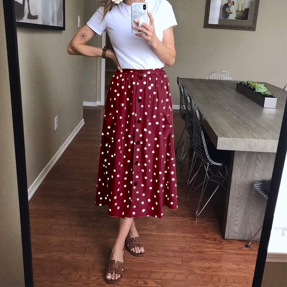 Exlura Polka Dot A Line Skirt