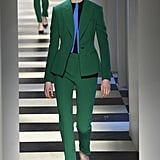 We'd dress Kate in this fresh green set from Fall 2017. We could see her accessorizing with her signature court shoes and a Mulberry clutch.