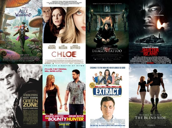 Movies Films Released in UK Cinemas in March 2010 Including Alice in Wonderland