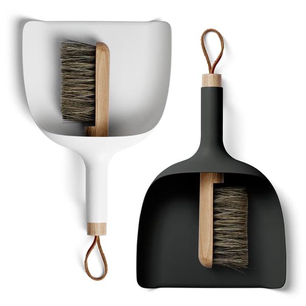 modern dustpan and broom set