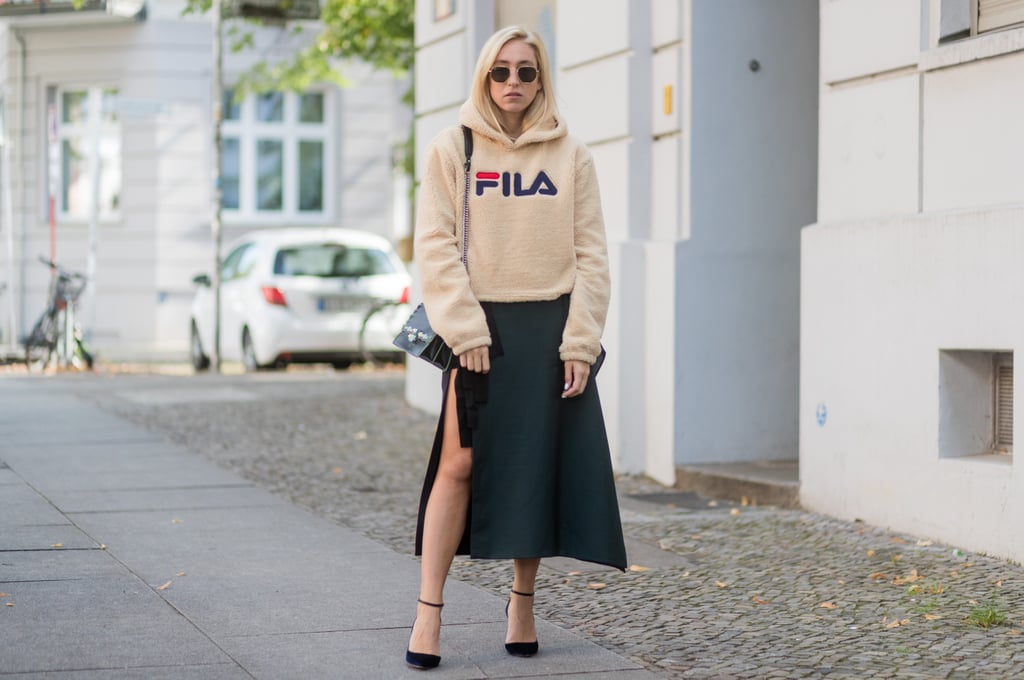 Layer With a Cropped Hoodie When It's Chilly Out