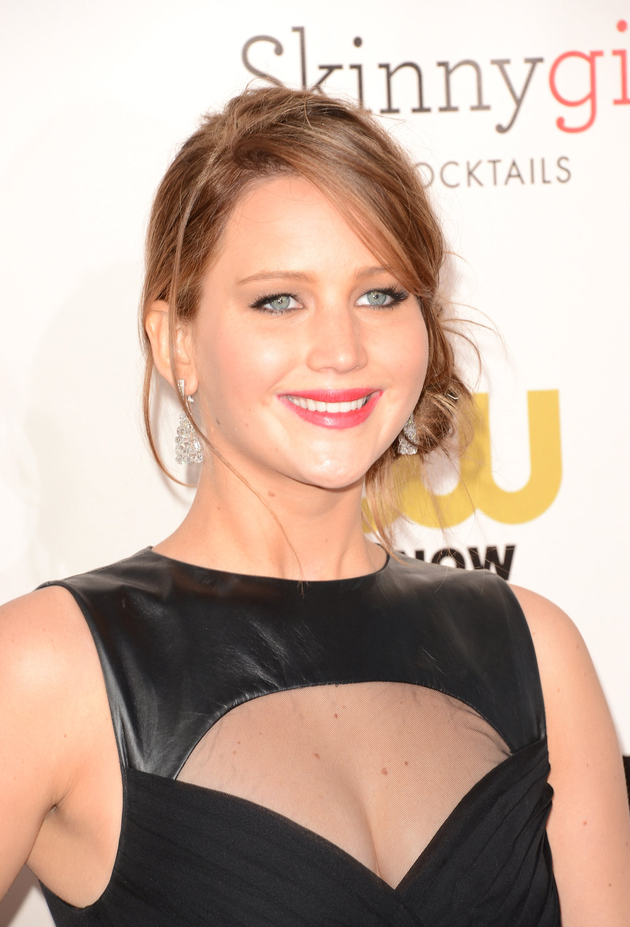 Jennifer Lawrence arrived at the 2013 Critics' Choice Awards.