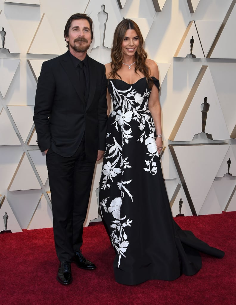 Christian Bale and Sibi Blazic at the 2019 Oscars