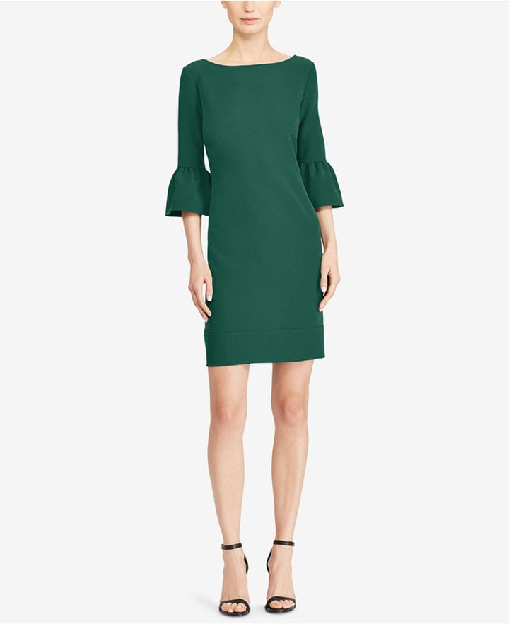 American Living Bell-Sleeve Crepe Dress