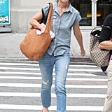 Katie Holmes crossed a street in NYC while out for a stroll.