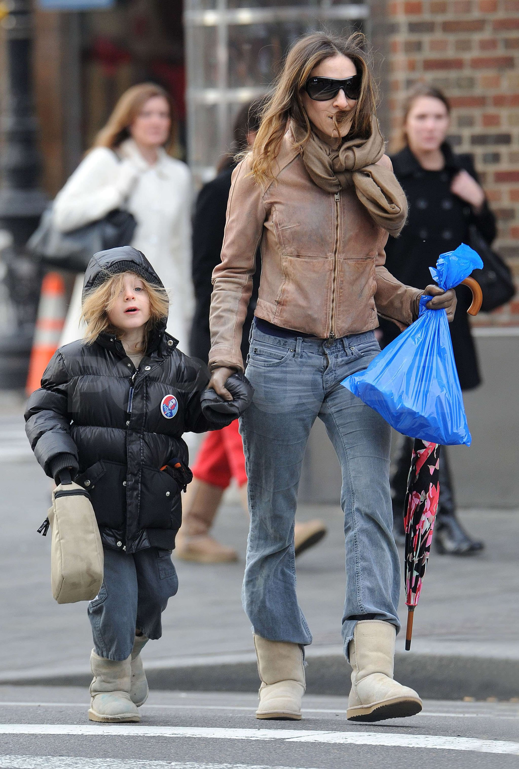 Photos of Sarah Jessica Parker in NYC with her Son James Wikie Broderick
