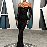 Jasmine Tookes at the Vanity Fair Oscars Afterparty 2020