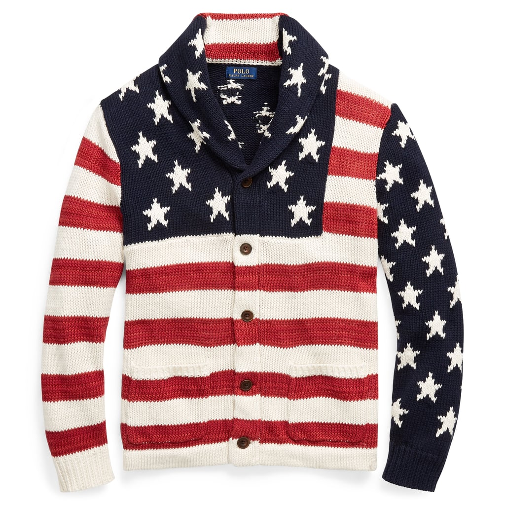 3dd0a1d67a7a Polo Ralph Lauren Flag Cotton-Blend Cardigan