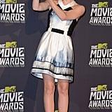 Emma in a Maxime Simoens dress at the 2013 MTV Movie Awards.