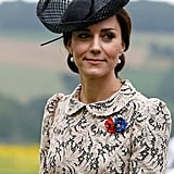 In 2016, Duchess Catherine attended the 100th anniversary of the beginning of the Battle of the Somme wearing this sheer black topper.