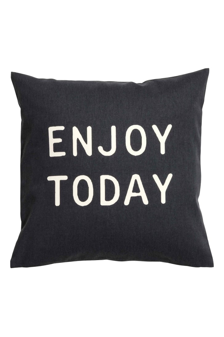 Enjoy Today Cushion Cover | Slogan and Quote Cushions ...
