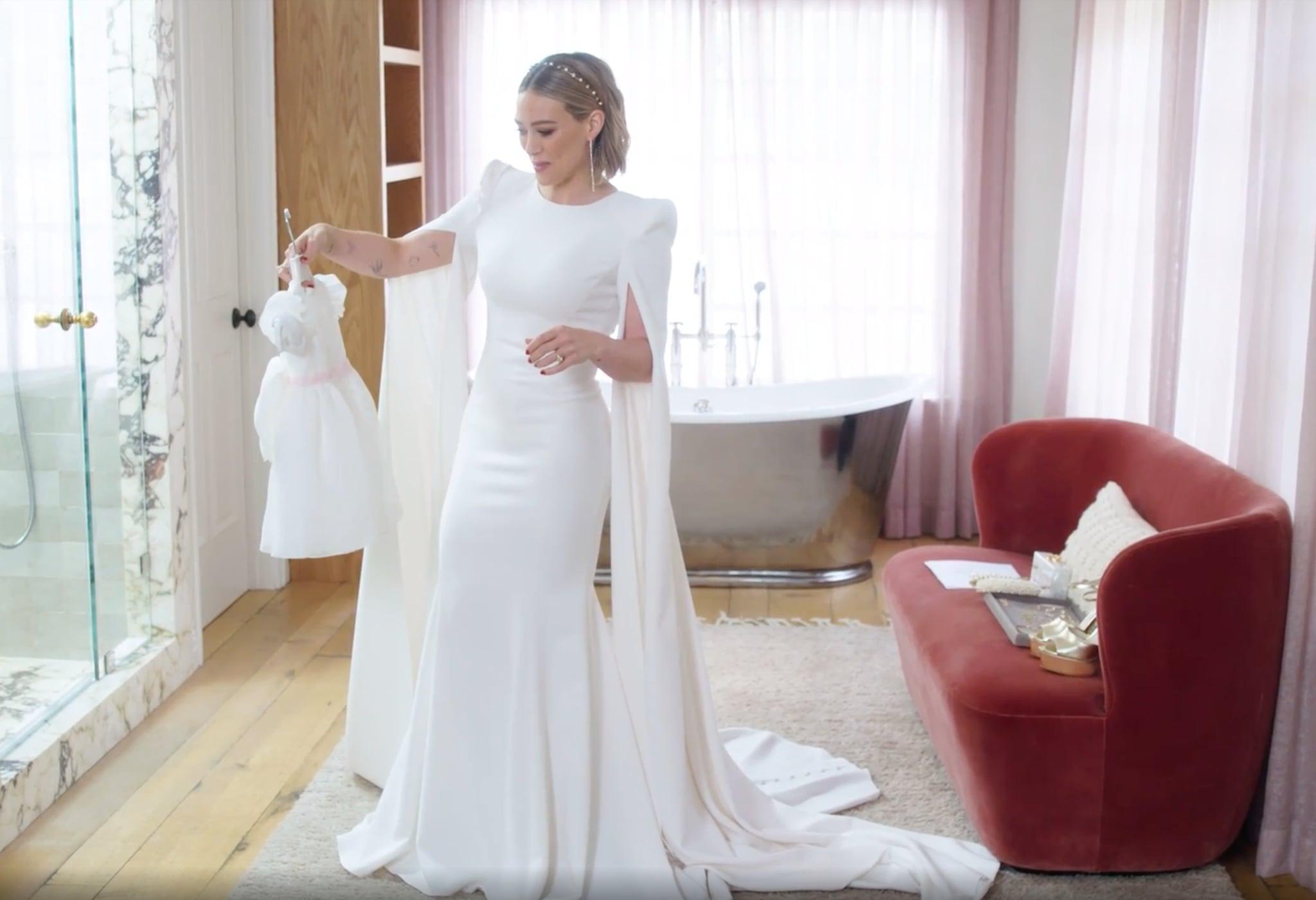 Hilary Duff S Jenny Packham Wedding Dress Video Popsugar Fashion