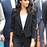 Meghan Markle's Black Trouser Suit Ireland 2018