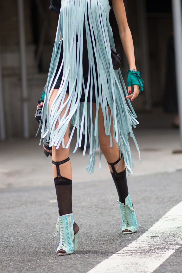New York Fashion Week Best Street Style Shoes And Bags At Fashion Week Spring 2015 Popsugar