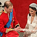 William and Kate Exchanging Rings, 2011