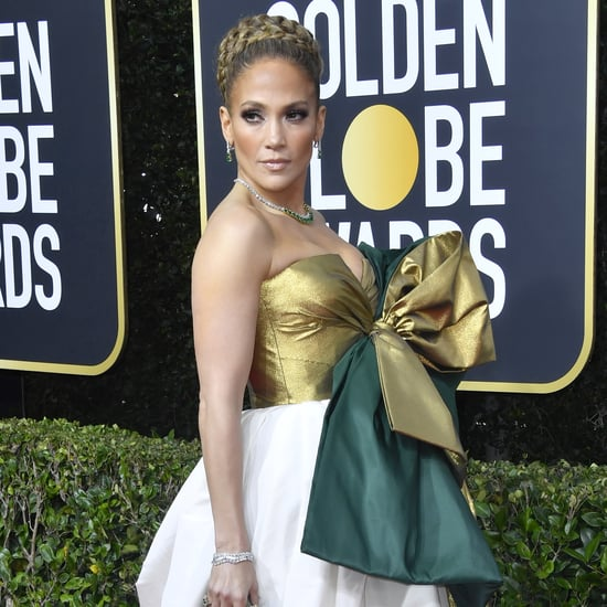 Jennifer Lopez's Giant Braided Bun to the Golden Globes