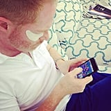 Even Modern Family's Jesse Tyler prepped for the Emmys with an under-eye mask.  Source: Instagram user justinmikita