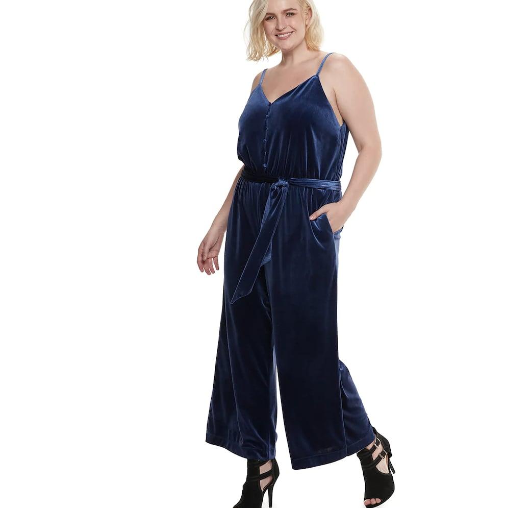 b806c7abd56a Velvet Wide-Leg Jumpsuit