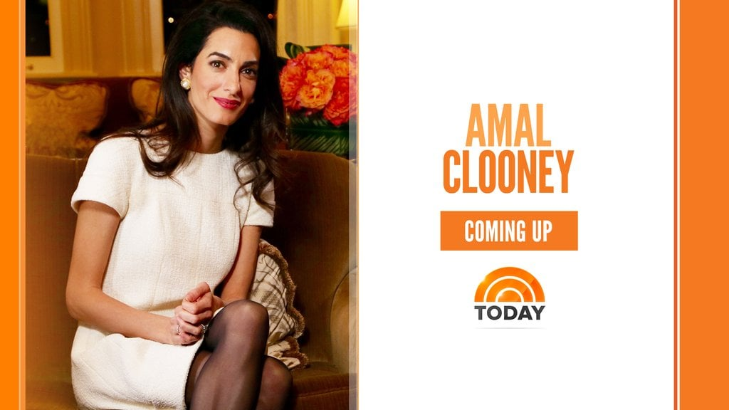 Amal Clooney Wearing White Dress on NBC News