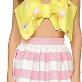Re:named Ice Cream Bow Crop Top ($51)