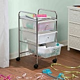 Honey-Can-Do Steel Three Drawer Rolling Storage Cart