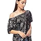 Anna-Kaci One-Shoulder Sequin Top