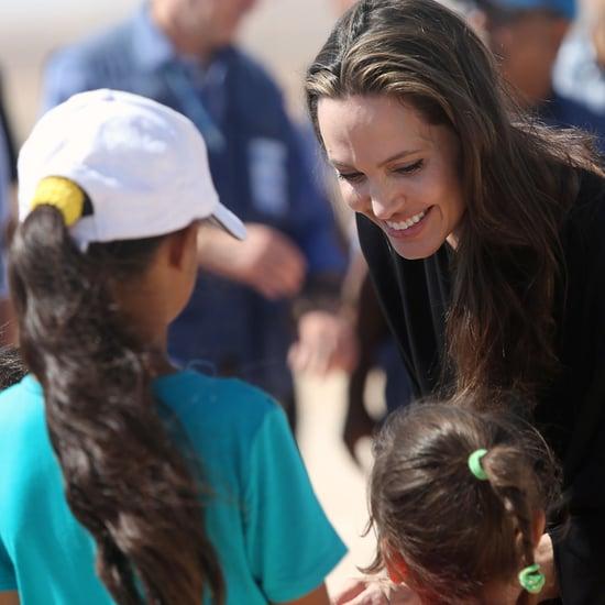 Angelina Jolie Visits a Refugee Camp in Jordan 2016