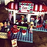 Josh Kelley loved building Naleigh's first Lego set with her. Source: Instagram user joshbkelley