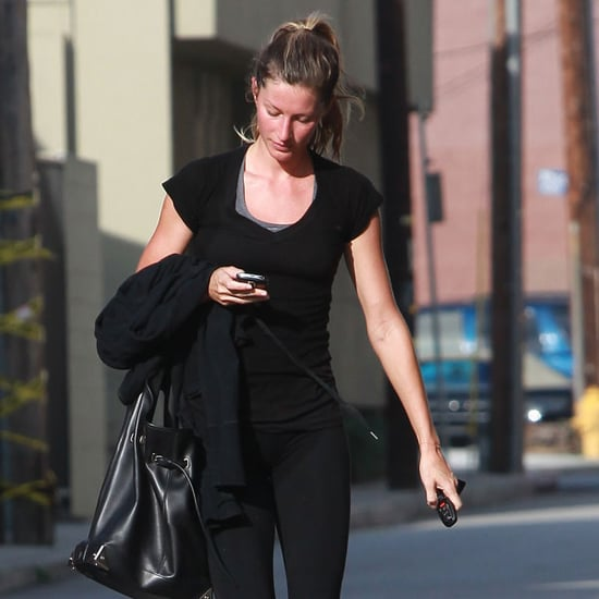 Pictures of Gisele Sweaty After Gym