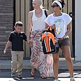 Gwen and Kingston held hands leaving school.