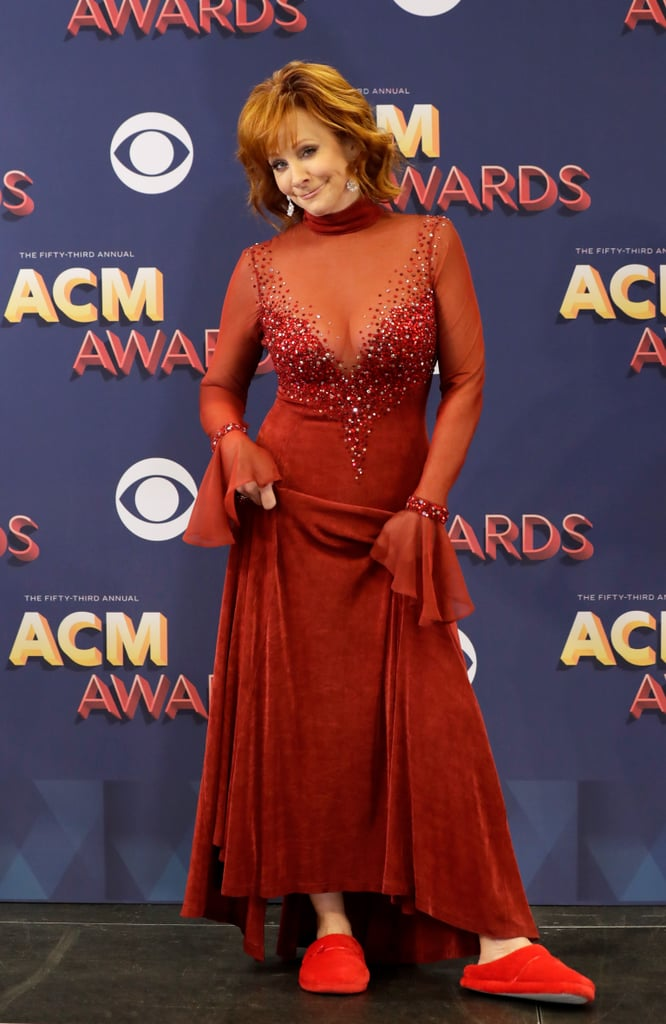 Reba at the 2018 ACM Awards