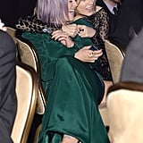 Kelly Osbourne and Taylor Swift goofed around at Clive Davis's annual pre-Grammys bash.