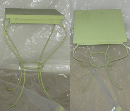 Before and After: Green Side Table