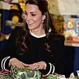 Once Inside, Kate Wrapped Quite a Few Gifts For the Holidays