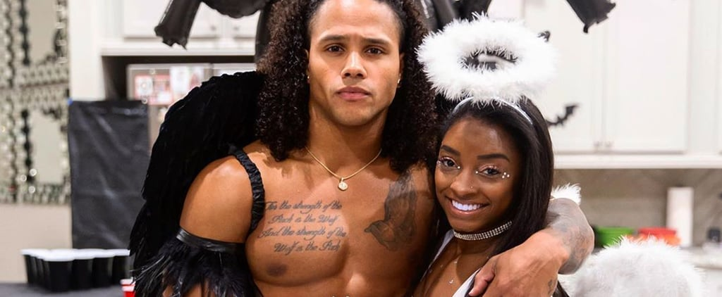 Simone Biles and Stacey Ervin Jr. Angel Halloween Costumes