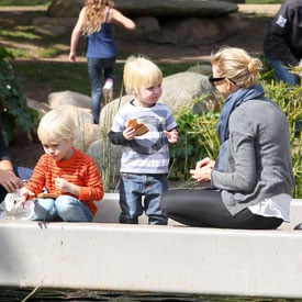 Pictures of Naomi Watts With Sasha and Samuel at the Park in LA