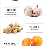Where to store fruits and veggies in the fridge.