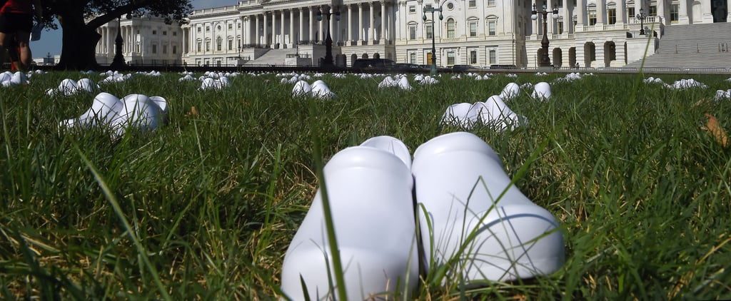 Nurse Shoes Left at US Capitol to Honour COVID-19 Deaths
