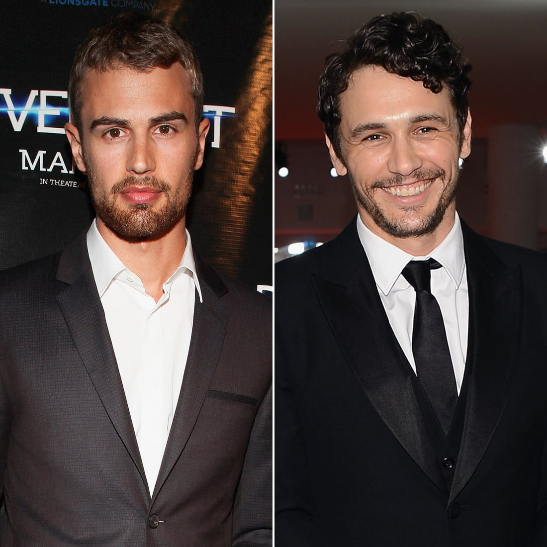 Theo James and James Franco