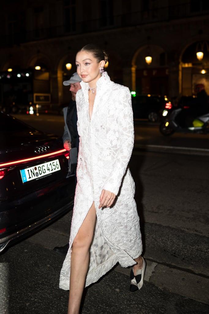Gigi Hadid at the Harper's Bazaar Exhibition During Paris Fashion Week 2020