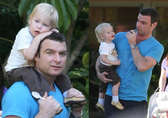 Photos of Liev Schreiber and Alexander Schreiber at the LA Zoo