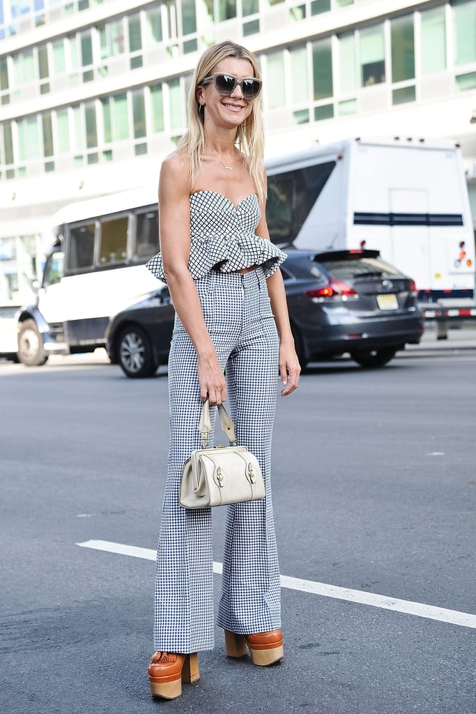 Opt for a bustier top with an exaggerated silhouette, like a peplum or ruffle, for added flair.