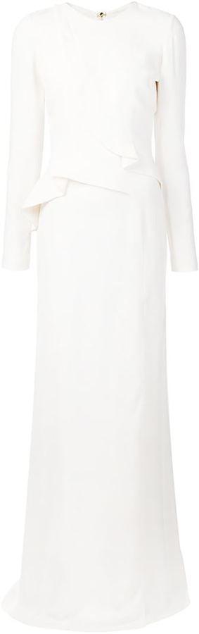 Elie Saab Ruffle Detail Evening Gown ($3,565)