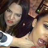 Kim Kardashian couldn't escape from sister Khloé. Source: Instagram user kimkardashian