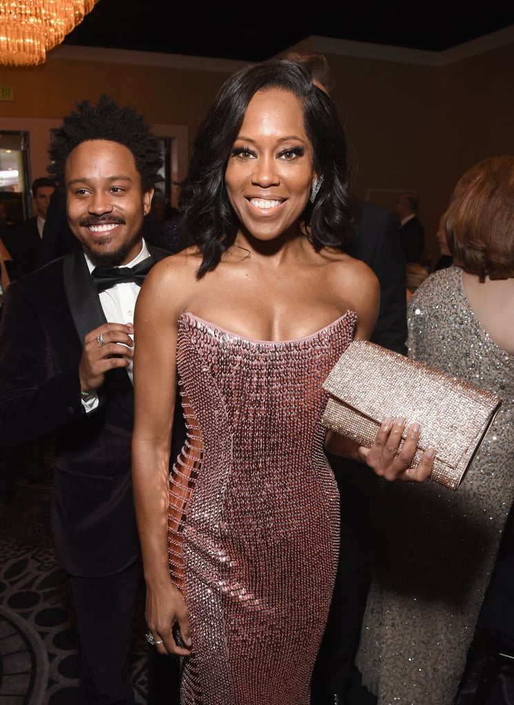 "Regina King made heads turn as she attended the Golden Globes on Sunday night. The actress, who took home best supporting actress, looked stunning in a strapless pink dress. In addition to working the red carpet, she also shared her sweet bond with her son, Ian Alexander, Jr., who she brought along as her date.  While talking with Ryan Seacrest for E! News, the actress looked like a proud mom as her 22-year-old talked about the Time's Up movement and the importance of equality in the workplace. Of course, it was his quotes about being Regina King's son that really made our hearts melt. ""Usually people will ask me, 'What's it like having Regina King be your mother,'"" he said. ""She's just a supermom, really. She doesn't really let bad work days or anything come back and ruin the time that we have, so it's really awesome to have a mother that . . . I can enjoy spending time with and all that."" See more of Regina and Ian's mother-son outing ahead!      Related:                                                                                                           Proof That Regina King and Ian Alexander Jr. Have Always Been the Cutest Mother-Son Duo"