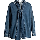 Chloé Tie-neck denim blouse ($695)