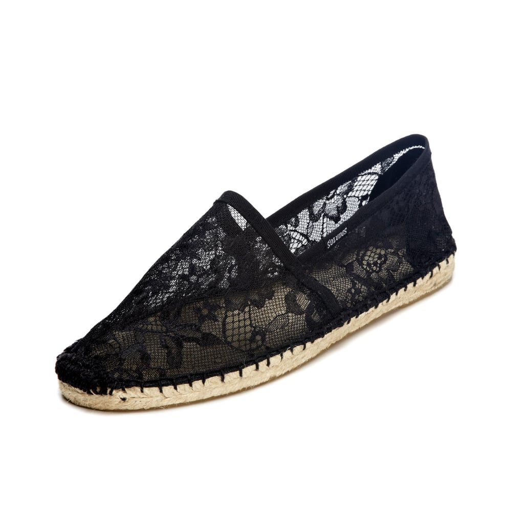 If your tireless bridesmaid has logged hours running errands and fetching items for your ceremony, give her a gift perfect for pounding the pavement. We like Soludos's lacy take on the espadrille ($50).