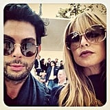 Joey Maalouf and Rachel Zoe waited for the Chloé fashion show to start. Source: Instagram user joeymaalouf